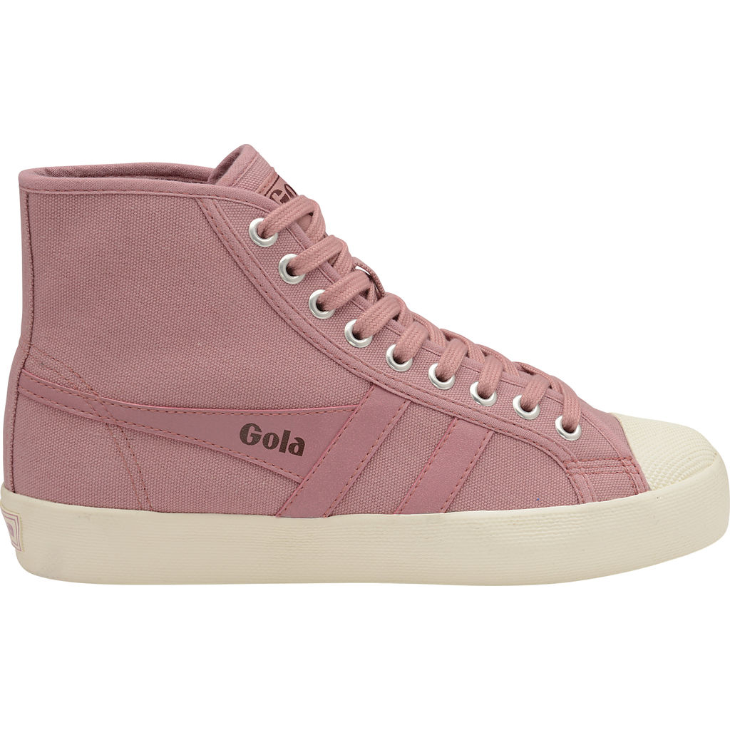 22b83305792 Gola Women's Coaster High Top Sneakers | Dusty Rose/Off White