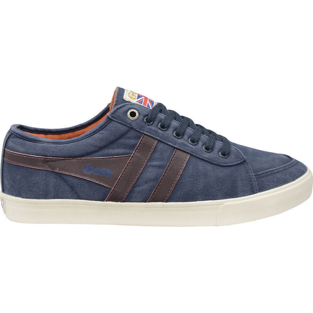 Gola Men's Comet Sneakers | Navy/Burgundy/Orange