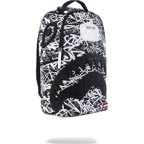 Sprayground Scribble Shark Backpack | Black/White