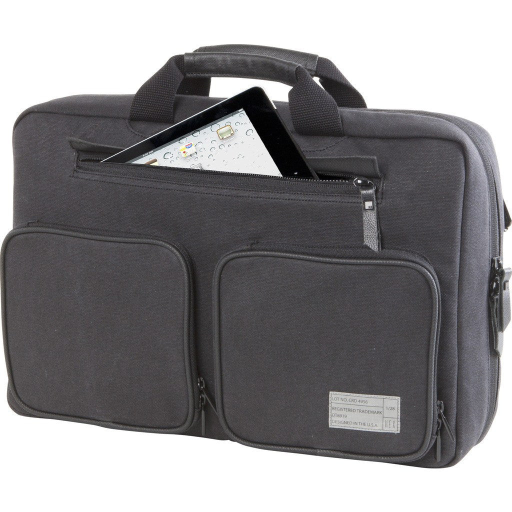 Hex Supply Convertible Laptop Briefcase | Charcoal Canvas CHCV HX2033