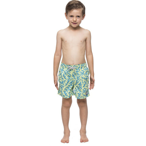 Tom & Teddy Coral Swim Trunk | Blue & Lime Size 5-6