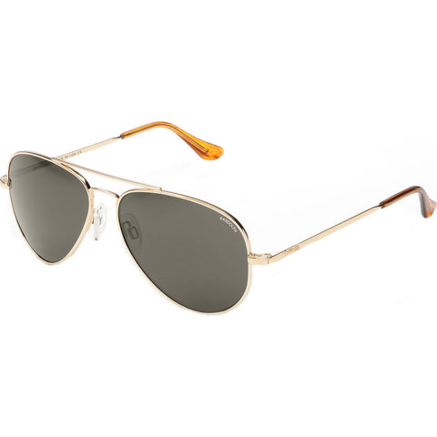 Randolph Engineering Concorde 23K Gold Sunglasses | Gray Polarized AR Skull CR003
