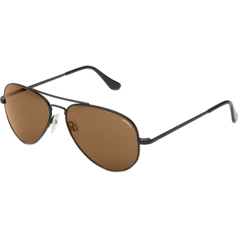 Randolph Engineering Concorde Matte Black Sunglasses | Tan Polarized AR Skull CR012