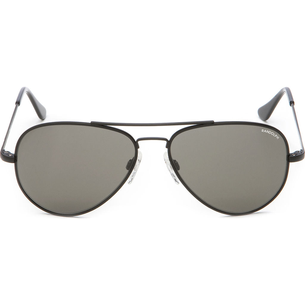 477ab1713c Randolph Engineering Concorde Matte Black Sunglasses Gray Polarized ...