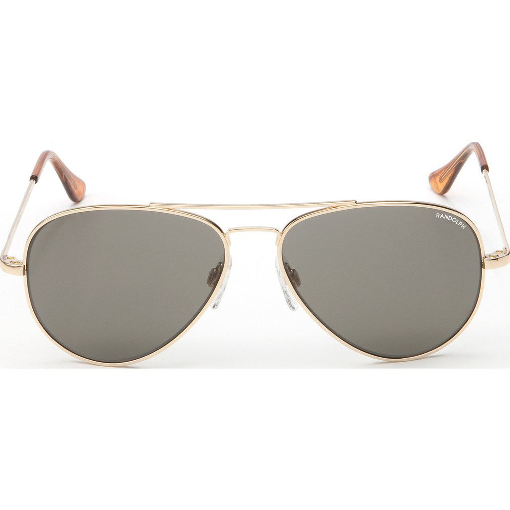 Randolph Engineering Concorde 23K Gold Plated Sunglasses | Gray Glass Skull 52MM CR21411/57MM CR71411/61MM CR11411