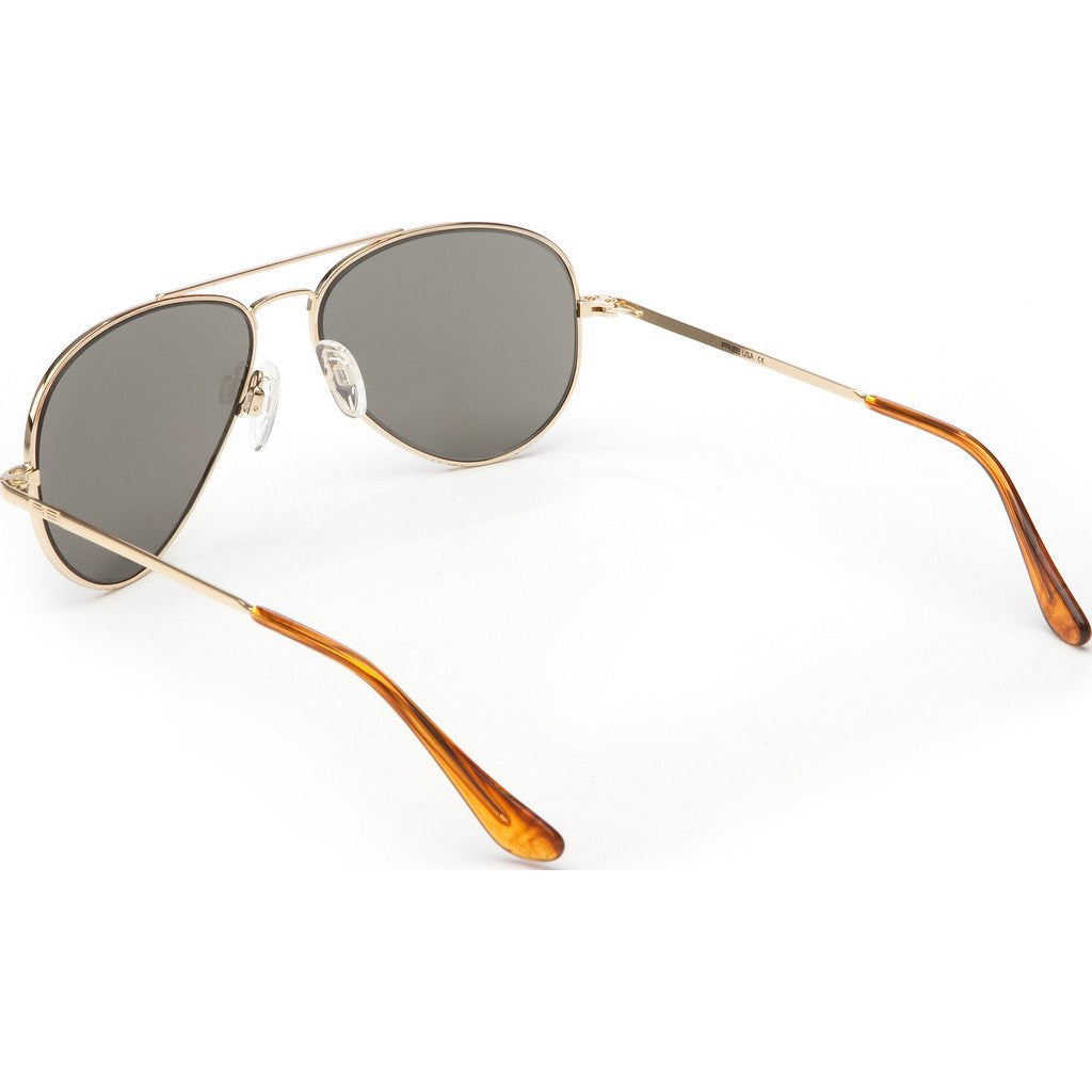 Randolph Engineering Concorde 23K Gold Plated Sunglasses | Gray Polarized PC Skull 52MM CR21434-PC