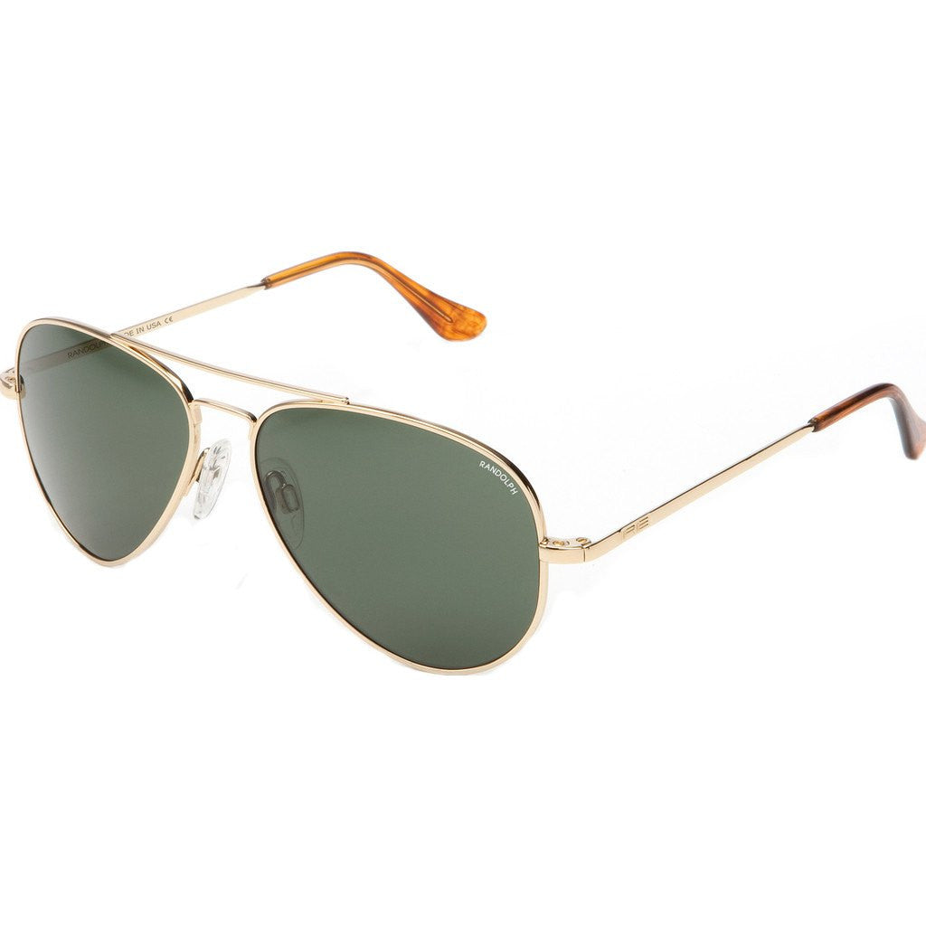 Randolph Engineering Concorde 23K Gold Plated Sunglasses | AGX PC Skull 52MM CR21414-PC