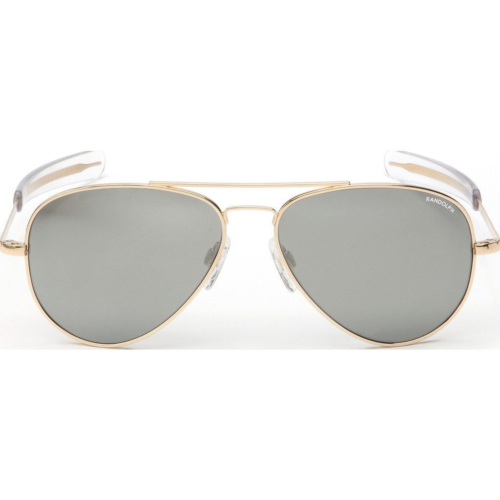 Randolph Engineering Concorde 23K Gold Plated Sunglasses | Gray Flash Mirror Glass Bayonet 57MM CR71663/61MM CR11663