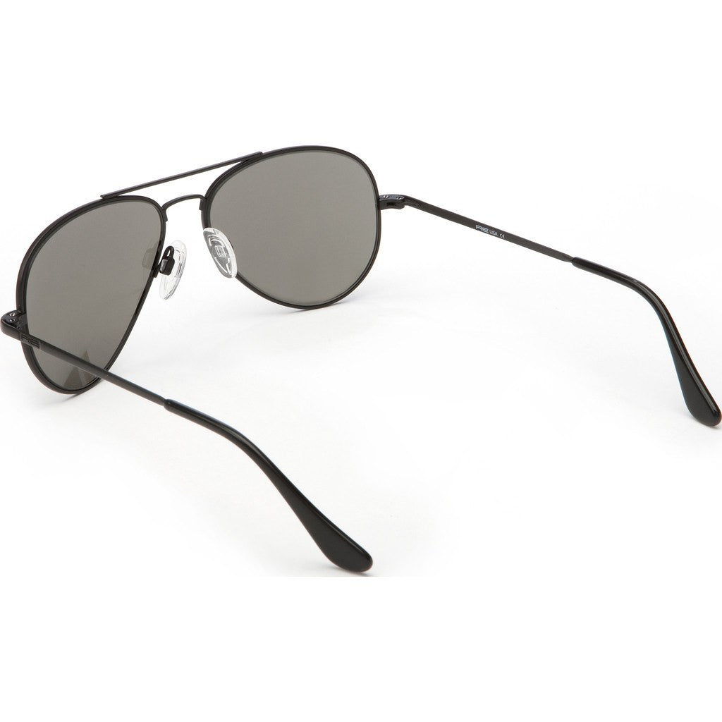 Randolph Engineering Concorde Matte Black Sunglasses | Gray Polarized Glass Skull 57MM CR72434/61MM CR12434