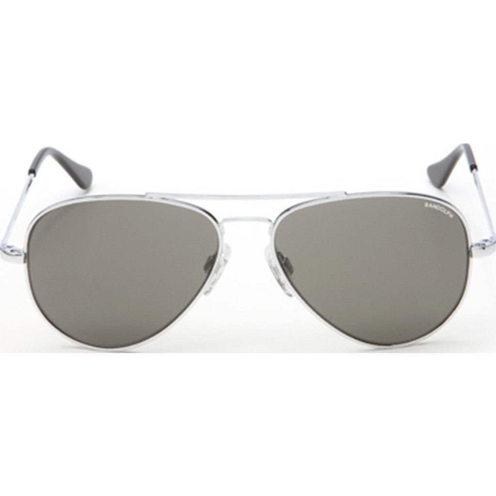 Randolph Engineering Concorde Bright Chrome Sunglasses | Gray PC Skull 57MM CR73441/61MM CR13441