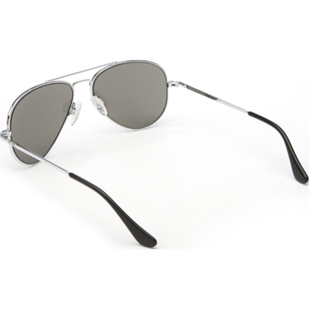 Randolph Engineering Concorde Bright Chrome Sunglasses | Gray Glass Skull 57MM CR73411