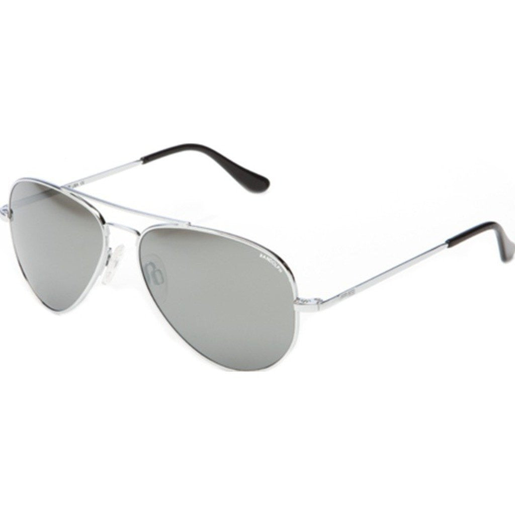 Randolph Engineering Concorde Bright Chrome Sunglasses | Gray Flash Mirror Glass Skull