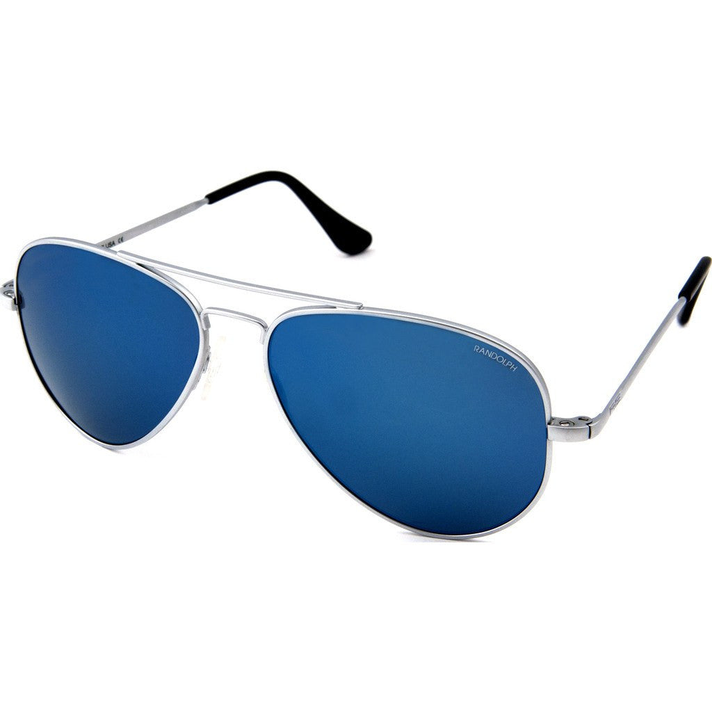 Randolph Engineering Concorde Matte Chrome Sunglasses | Blue Sky PC Skull 57MM CR74468-PC/61MM CR14468-PC