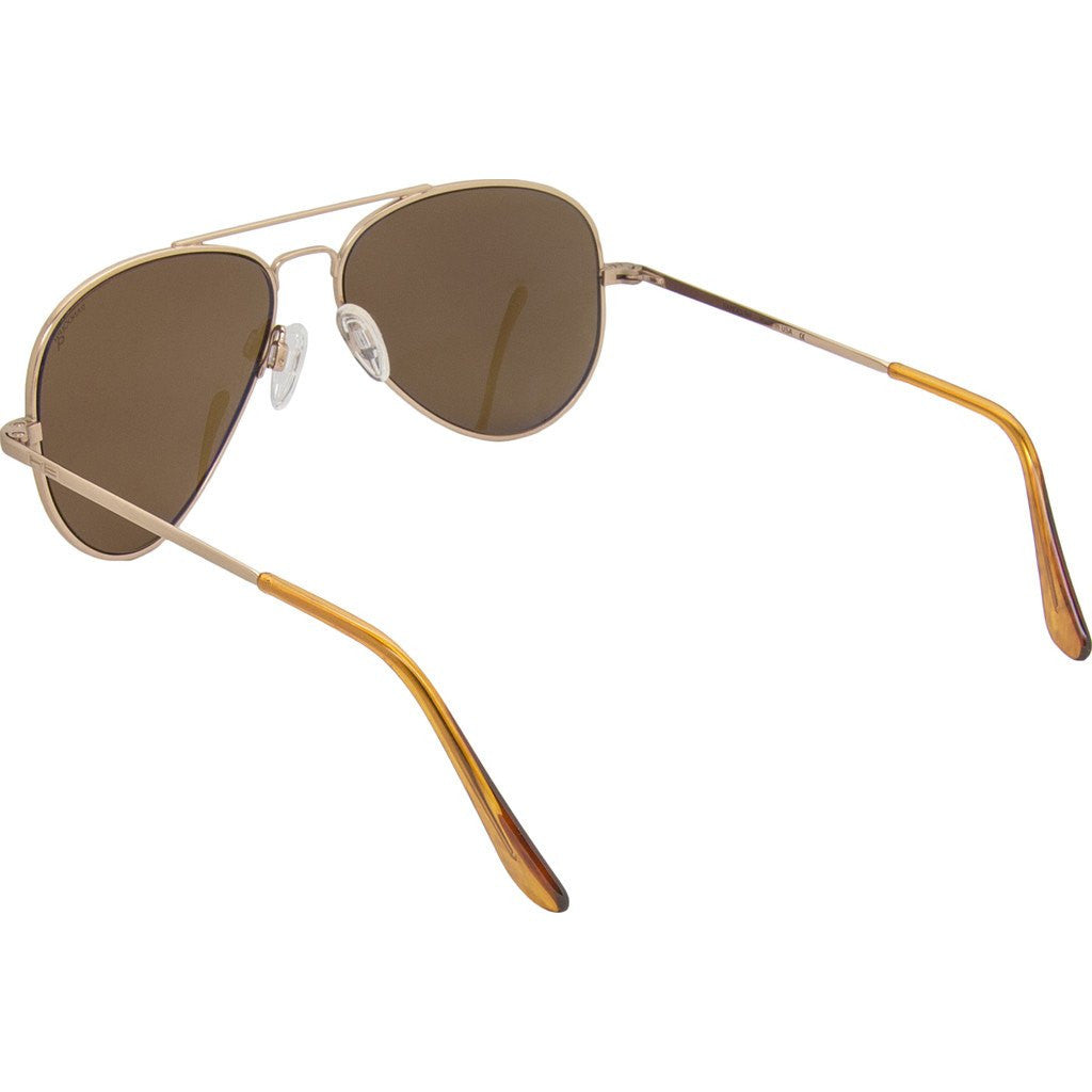 Randolph Engineering Concorde Rose Gold Satin Sunglasses | Tan Glass Skull 57MM CR7Z412