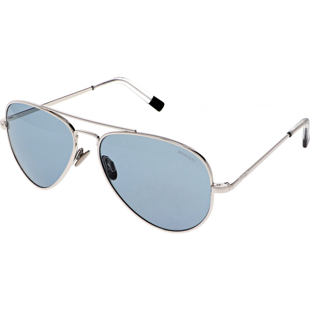 Randolph Engineering Concorde White Gold Skull Sunglasses | Glass AGX Polarized AR 57 CR230