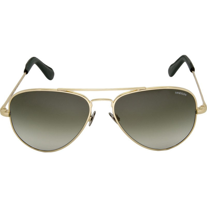 Randolph Engineering Concorde 23K Gold Plated Sunglasses | Green Gradient Skull 57MM CR71401-NY
