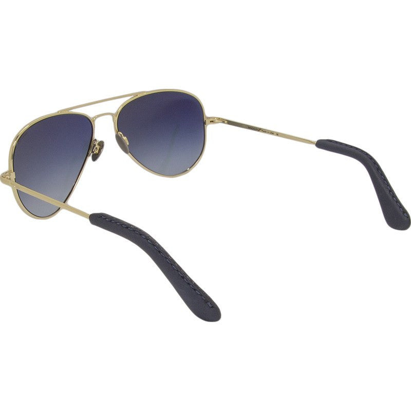 Randolph Engineering Concorde 23K Gold Plated Sunglasses | Blue Gradient Skull 57MM CR71402-NY