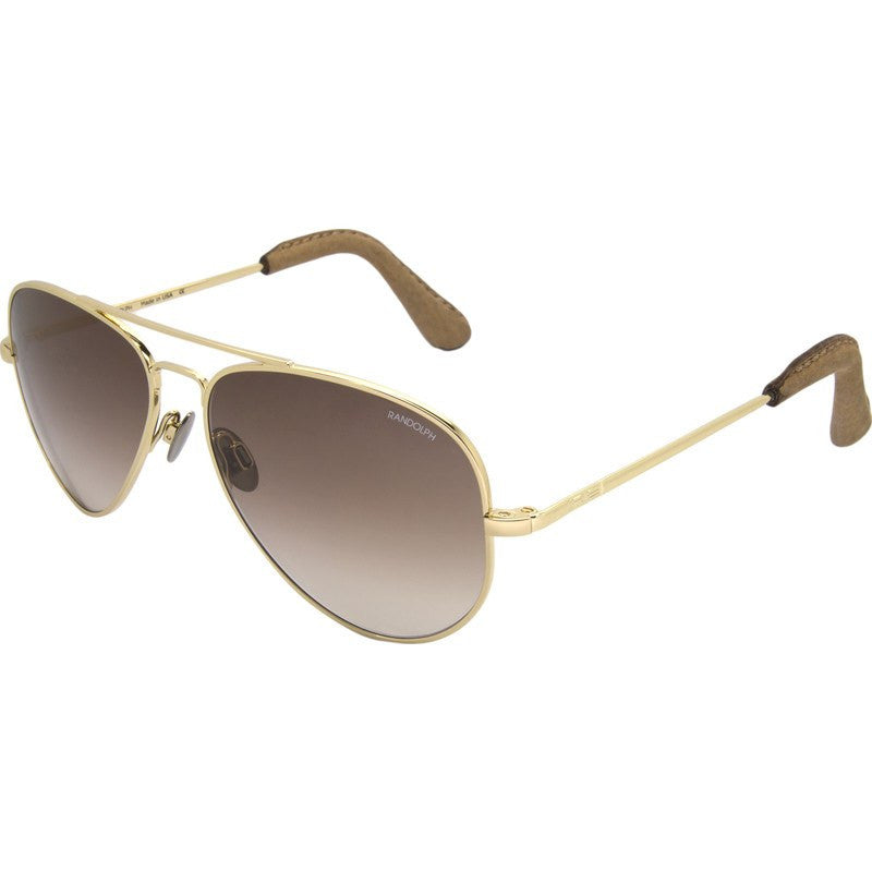 Randolph Engineering Concorde 23K Gold Plated Sunglasses | Tan Gradient Skull 57MM CR71404-NY