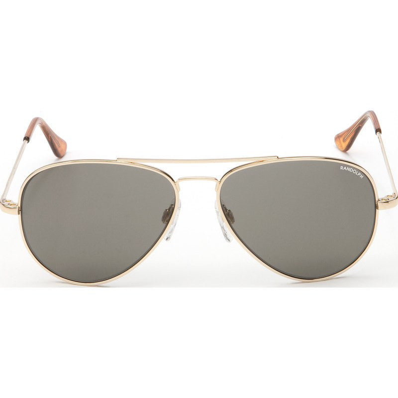 Randolph Engineering Concorde 23K Gold Plated Sunglasses | Gray Polarized Skull