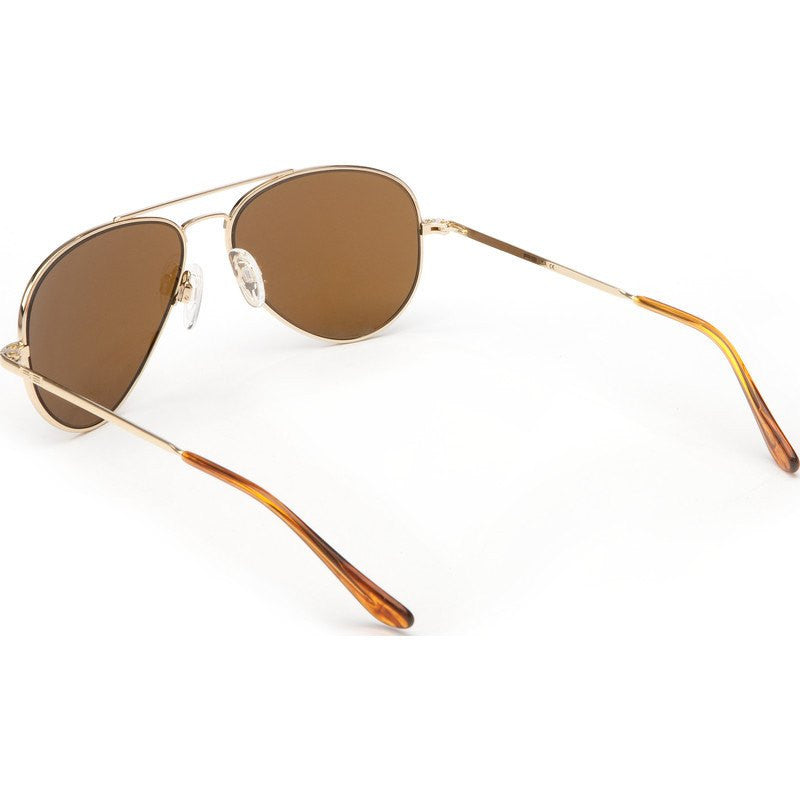 Randolph Engineering Concorde 23K Gold Plated Sunglasses | Tan Polarized Skull