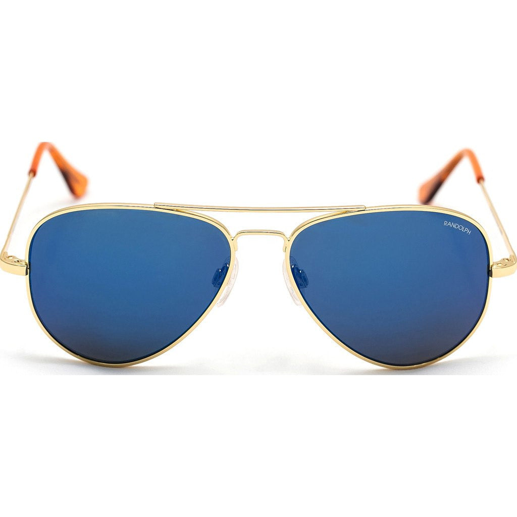 Randolph Engineering Concorde 23K Gold Plated Sunglasses | Blue Sky PC Skull 57MM CR71468-PC/61MM CR11468-PC