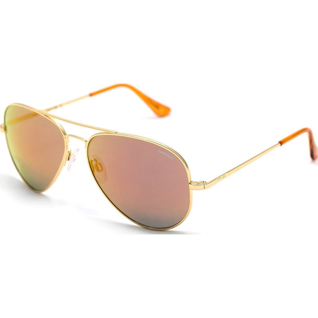 Randolph Engineering Concorde 23K Gold Plated Sunglasses | Orange Flash PC Skull 57MM CR71469-PC/61MM CR11469-PC