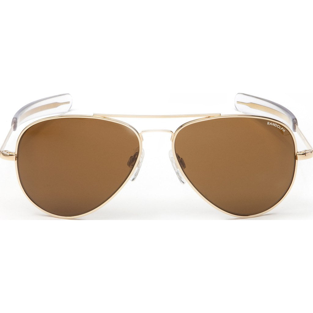 Randolph Engineering Concorde 23K Gold Plated Sunglasses | Tan PC Bayonet 57MM CR71612-PC