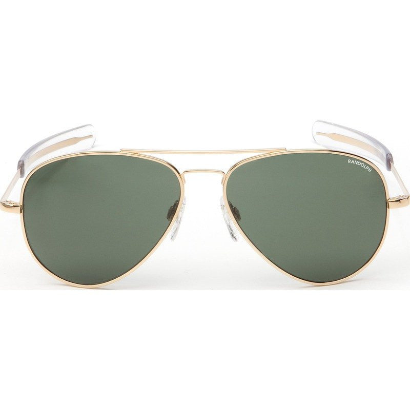 Randolph Engineering Concorde 23K Gold Sunglasses | AGX Green Bayonet