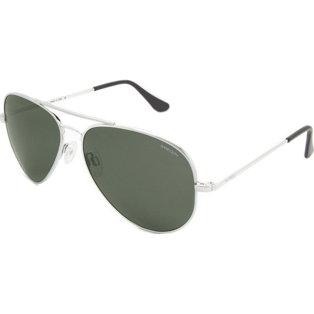 Randolph Engineering Concorde Bright Chrome Sunglasses | AGX PC Skull