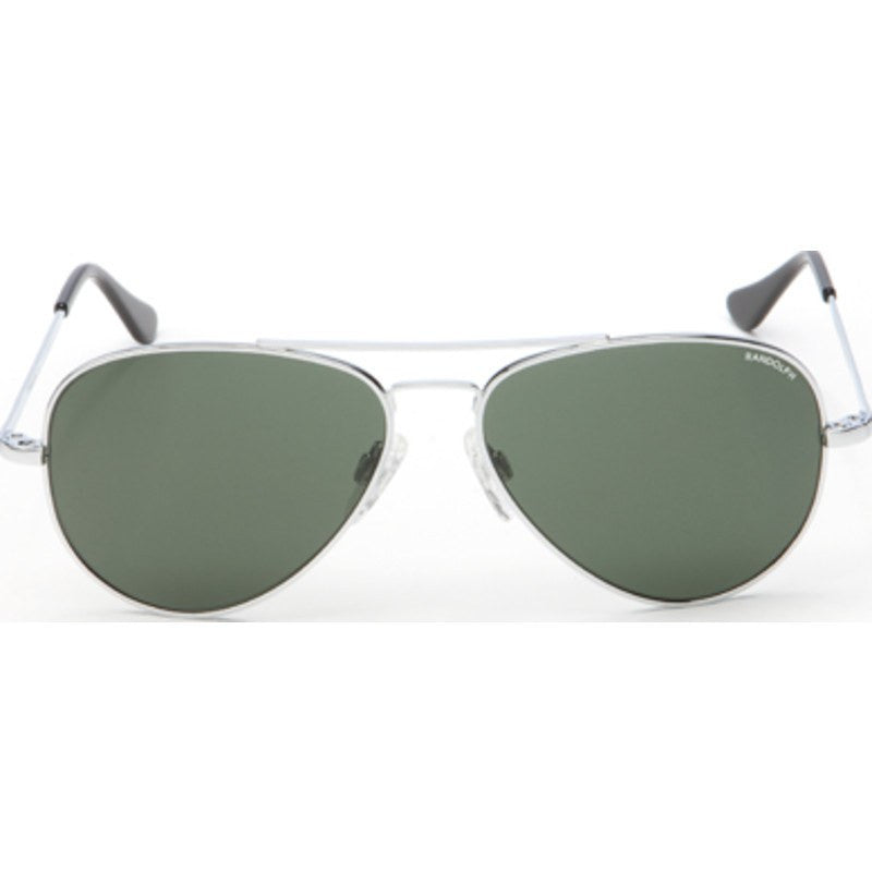 Randolph Engineering Concorde Bright Chrome Sunglasses | AGX Green Skull