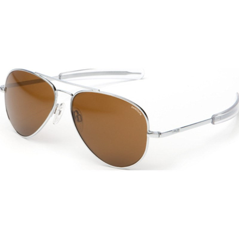 Randolph Engineering Concorde Bright Chrome Sunglasses | Tan Bayonet