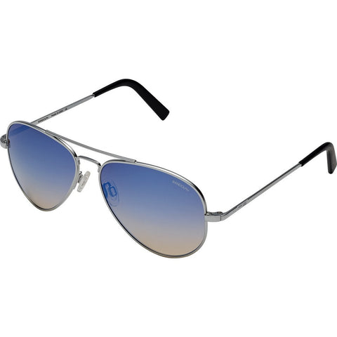 Randolph Engineering Concorde Matte Chrome Sunglasses | Oasis Metallic Nylon AR Skull 57MM CR74406-NY