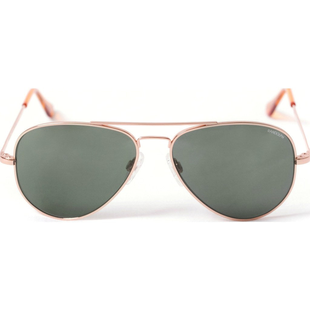 Randolph Engineering Concorde Rose Gold Plated Sunglasses | AGX Glass Skull 57MM CR75414