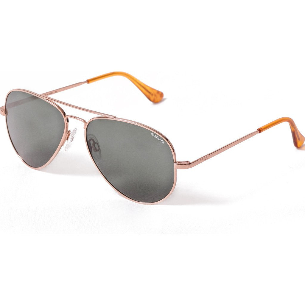 Randolph Engineering Concorde Rose Gold Plated Sunglasses | Gray Flash Mirror Glass Skull 57MM CR75463