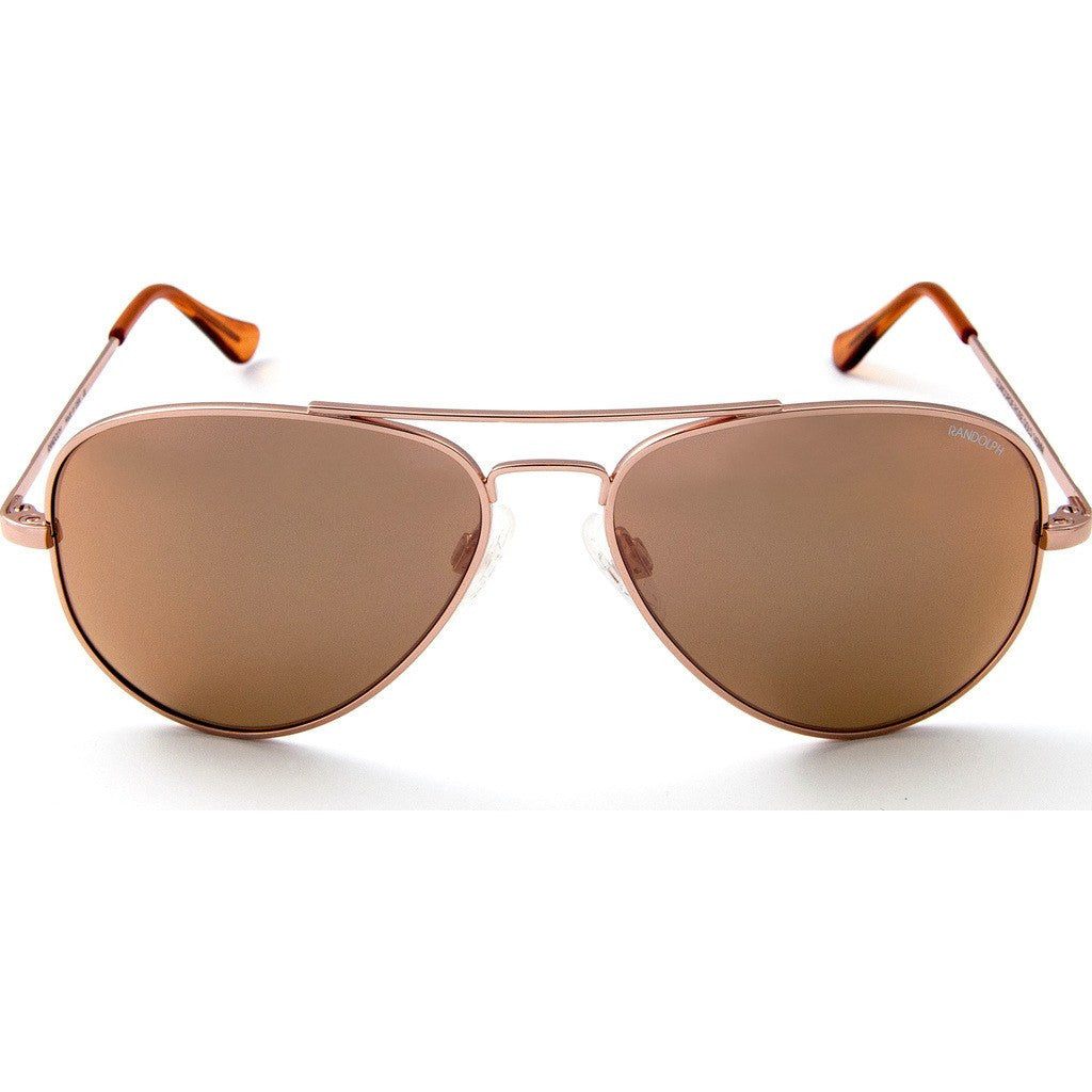 Randolph Engineering Concorde Rose Gold Plated Sunglasses | Rose Gold PC Skull 57MM CR75466-PC