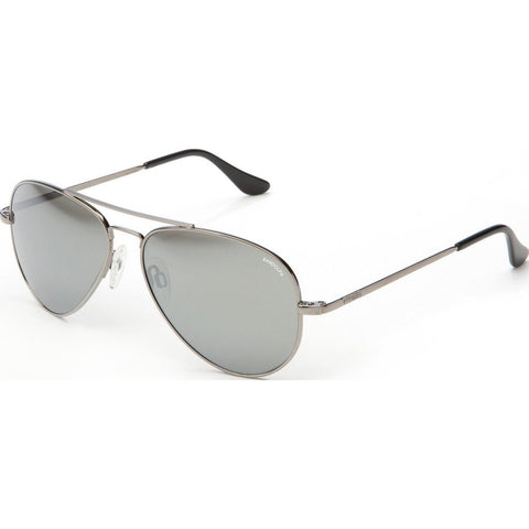 Randolph Engineering Concorde Gunmetal Sunglasses | Gray Flash Mirror Glass Skull 57MM CR7R463/61MM CR1R463