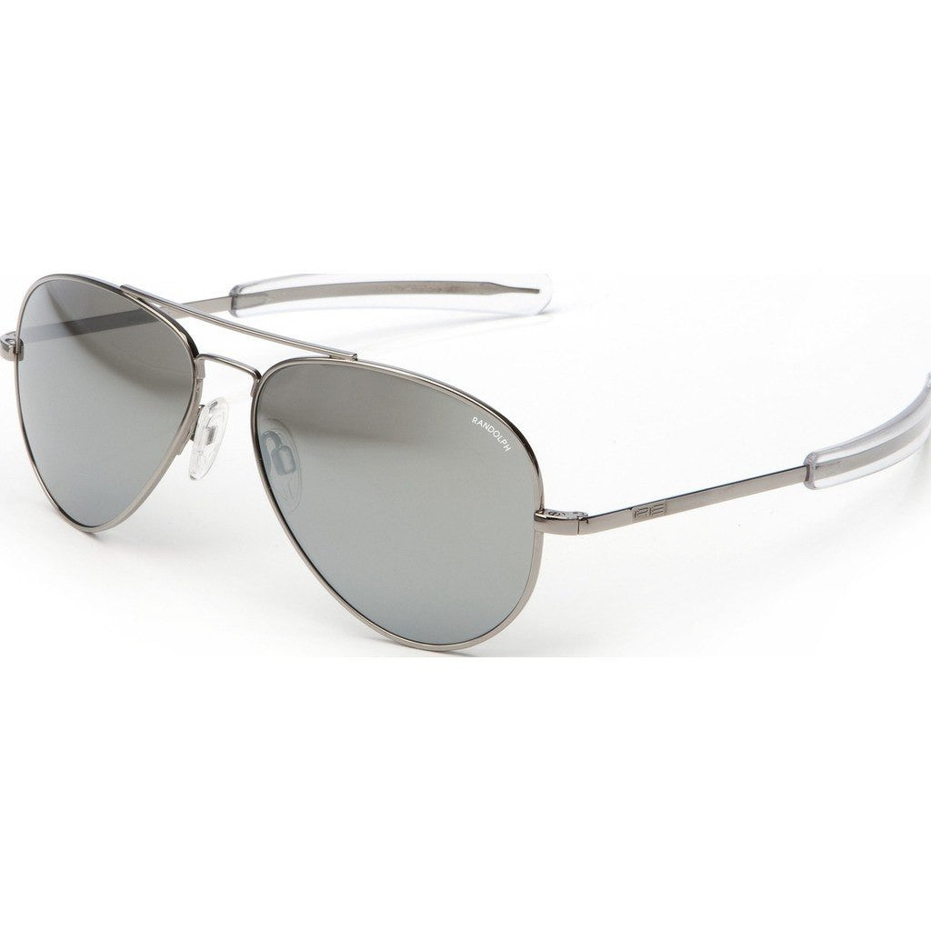 Randolph Engineering Concorde Gunmetal Sunglasses | Gray Flash Mirror Glass Bayonet 57MM CR7R663