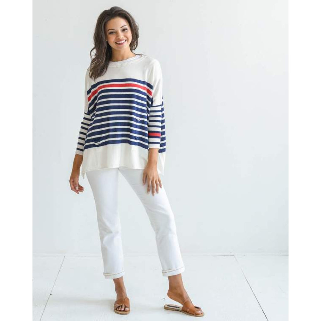 Mer-Sea Catalina Crewneck Travel Sweater with Bag