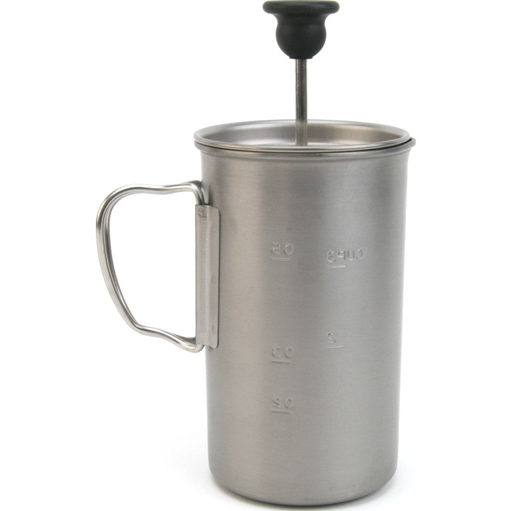 Snow Peak Titanium French Press | Silver CS-111