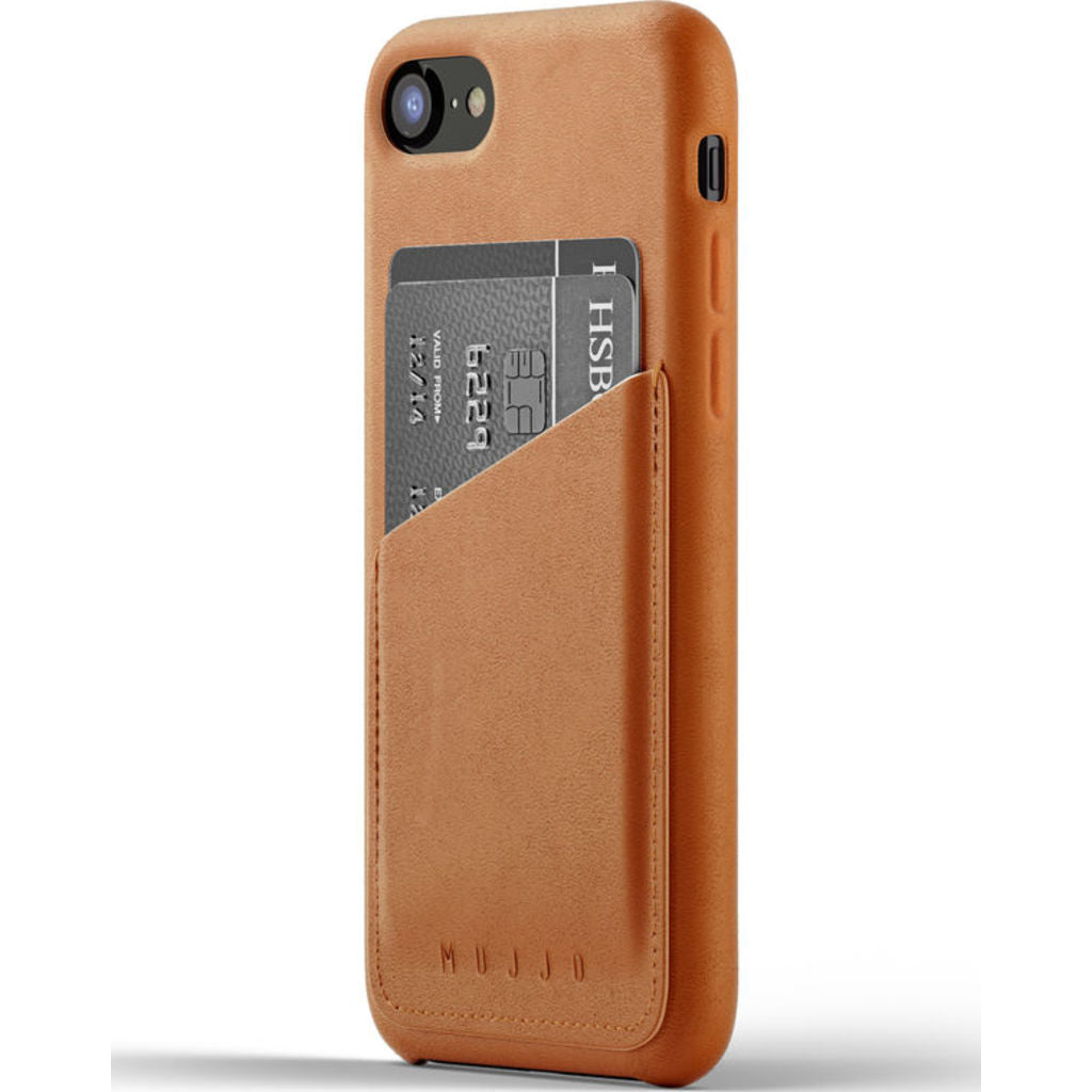 Mujjo Full Leather Wallet Case for iPhone 7/8 | Tan