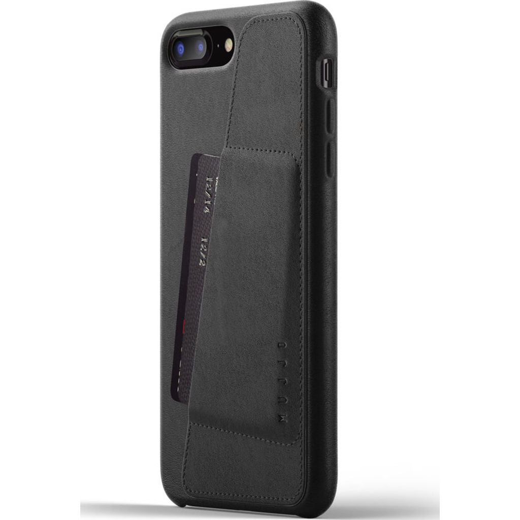 Mujjo Full Leather Wallet Case for iPhone 7/8 Plus | Black
