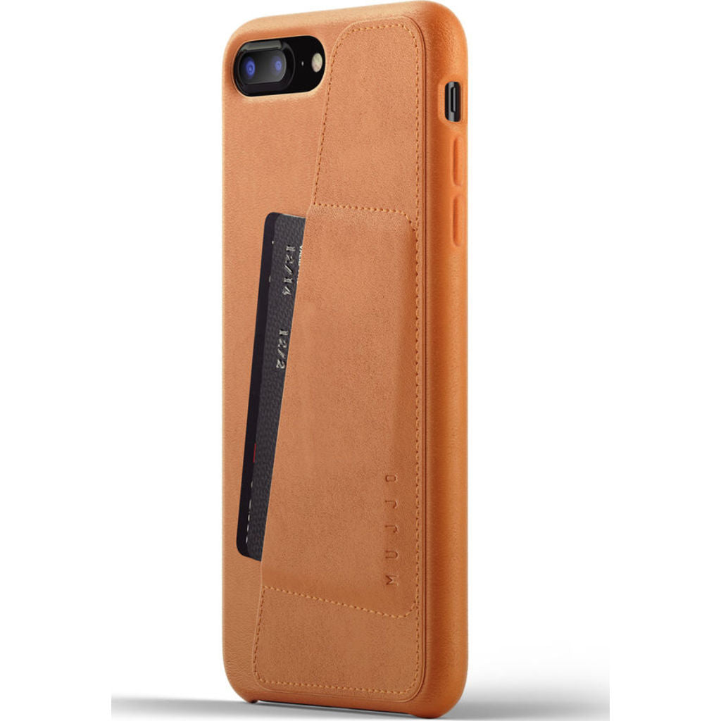 Mujjo Full Leather Wallet Case for iPhone 7/8 Plus | Tan