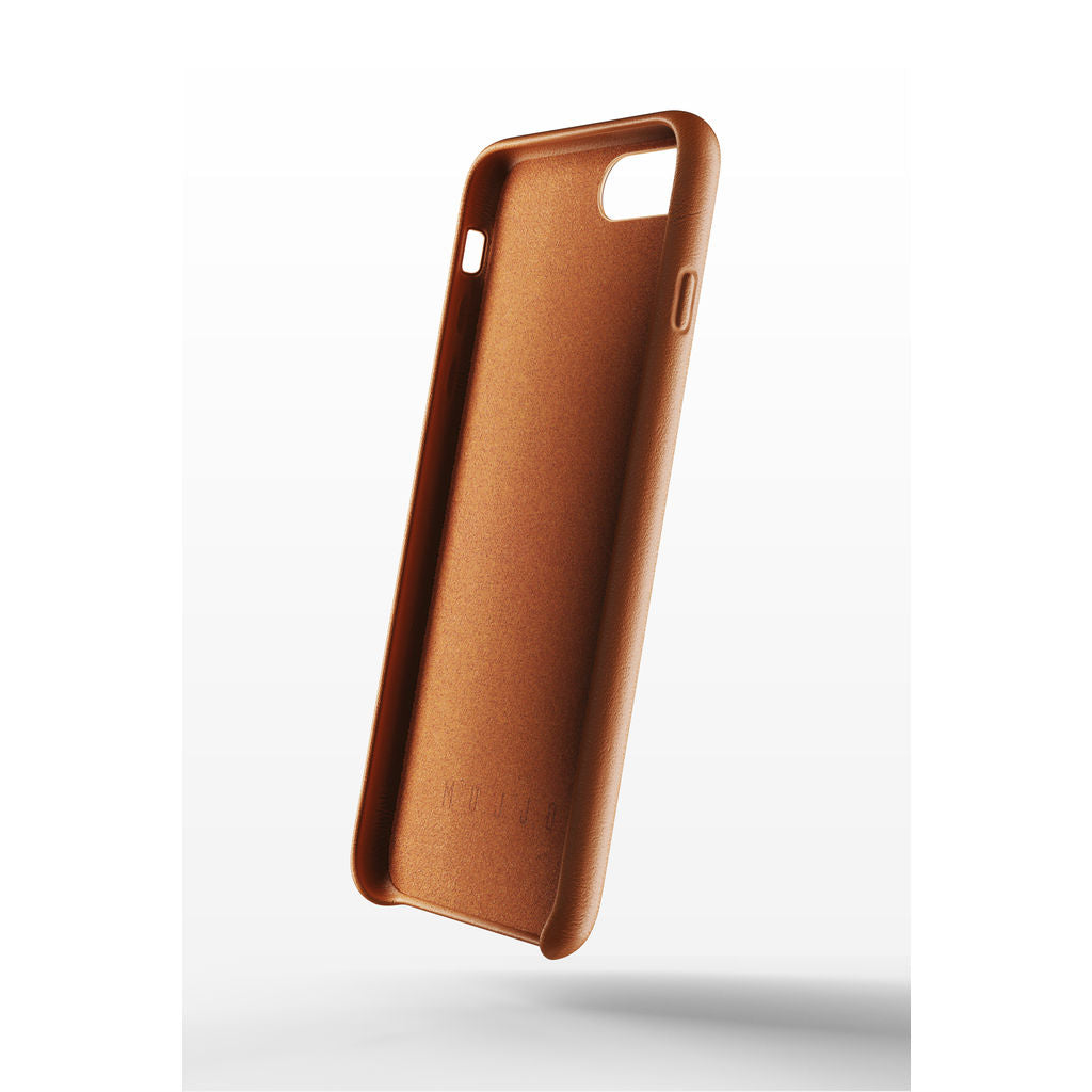 buy online 62d7e e3fb6 Mujjo Full Leather Wallet Case for iPhone 7/8 Plus | Tan