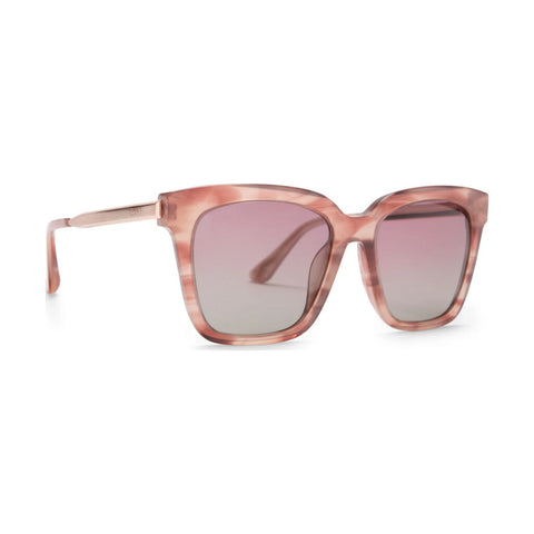 Diff Eyewear Bella Sunglasses | Cassis + Polarized Wine Gradient