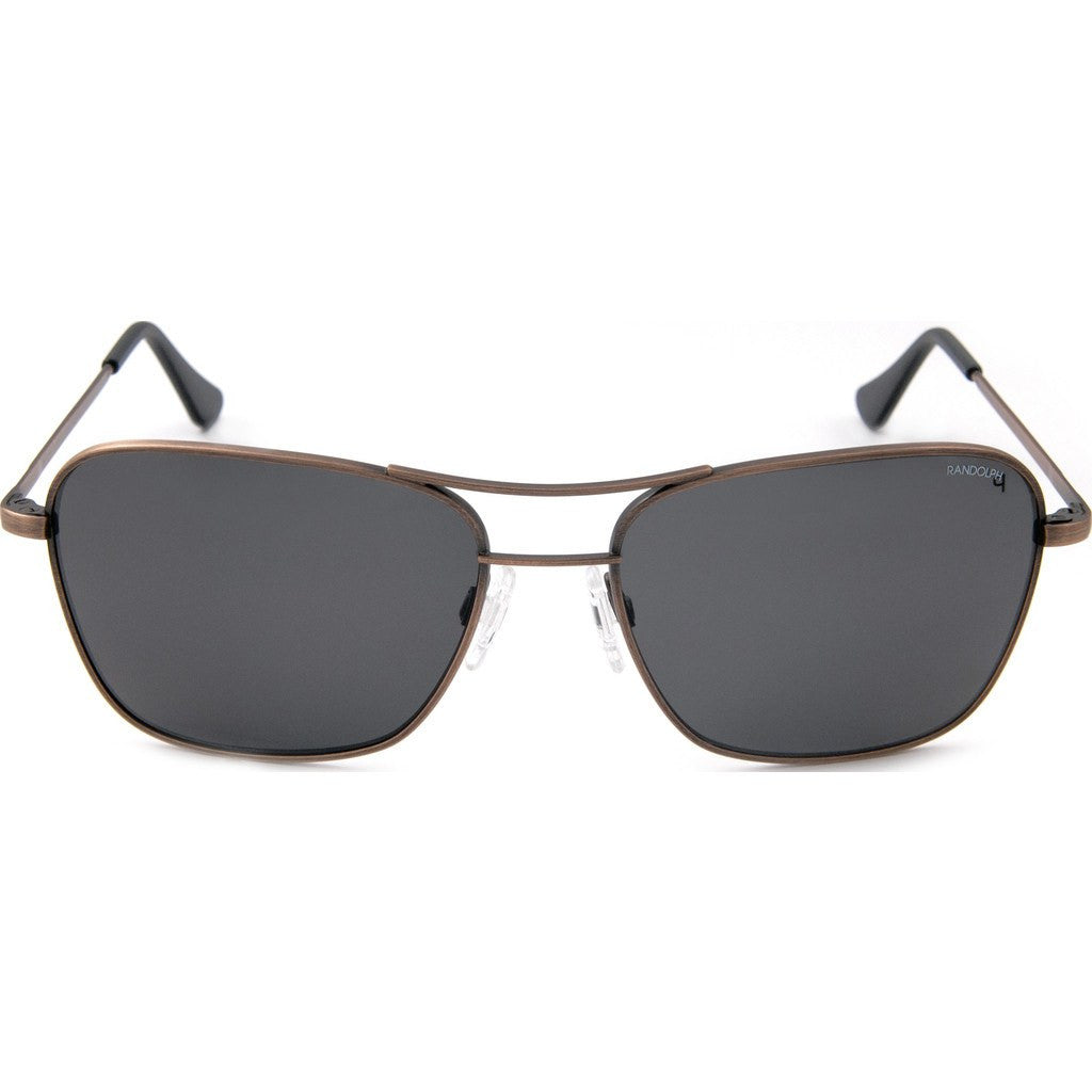 Randolph Engineering Corsair Antique Bronze Sunglasses | Gray Polarized PC Skull 58MM CS8B434-PC