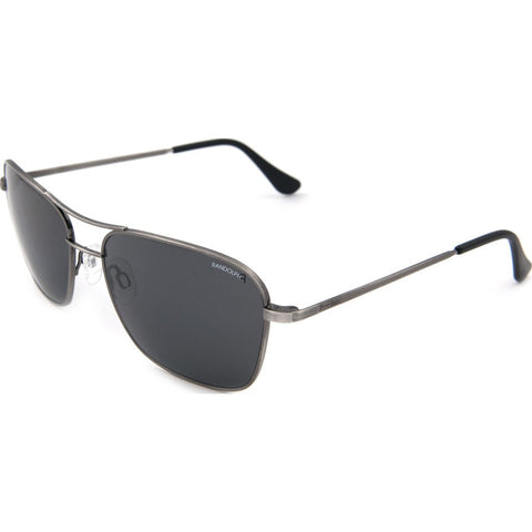 Randolph Engineering Corsair Antique Silver Sunglasses | Gray Polarized PC Skull 58MM CS8S434-PC