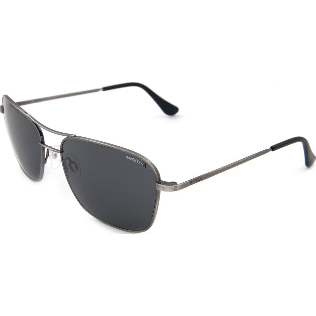 Randolph Engineering Corsair Antique Silver Sunglasses | Gray Glass Skull 58MM CS8S411