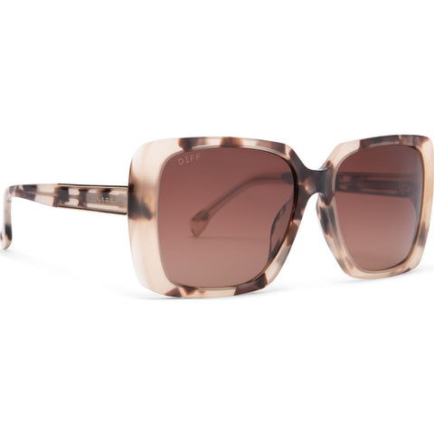 DIFF Eyewear Sophie Sunglasses | Cream Tortoise + Brown Gradient Lens