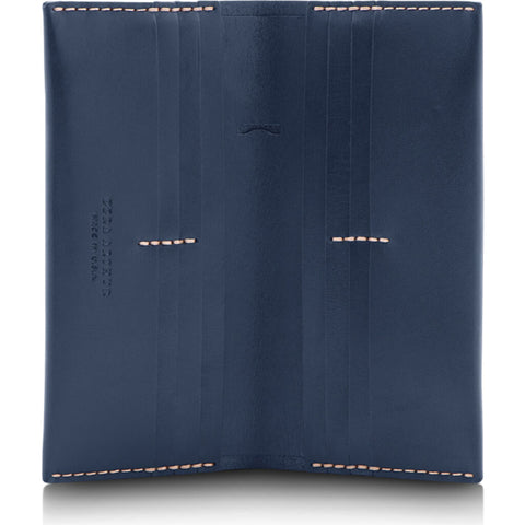 Ezra Arthur No. 12 Long Wallet | Navy