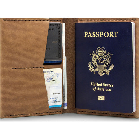 Ezra Arthur No. 5 Passport Wallet | Whiskey